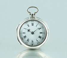 Charles Bifield London 1763 Verge fuse pair case pocket watch Listed watchmaker