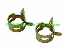 HONDA GX35 UMK435 ENGINE STRIMMER OIL TUBE PIPE HOSE CLAMP CLIP SET OF TWO