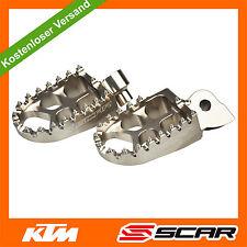 Fußrasten FUSSRASTEN KTM SX SXF SX-F EXC EXC-F 50 65 150 250 350 450 TITAN SCAR