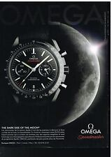 Publicité Advertising 2014 La Montre Omega Co-Axial Speedmaster