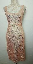 French Conection Women's Pink Embellished Bodycon  DRESS   Size 10