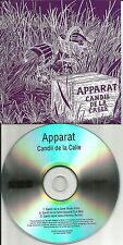 APPARAT Candil De La Calle w/ 2 MIXES & EDIT EUROPE PROMO CD Single USA Seller