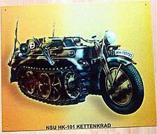 Älteres Blechschild Oldtimer NSU Kettenrad Wehrmacht gebraucht used