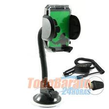 Soporte coche brazo + CARGADOR LG 3 E400 OPTIMUS BLACK P970 3D HUB SOL 2X P990