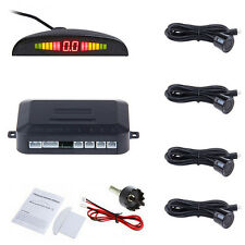 LED Display Car 4 Sensors Kit Reversing Parking Radar Buzzer System Parktronic