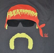 Hulkamania Hulk Hogan Graphic Tee Mens T-Shirt Size Medium Licensed WWE