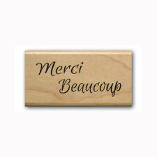 Merci Beaucoup - Mounted rubber stamp French thank you #23