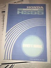 Honda HS55 Snowblower 2-Stage Owner's Manual track wheel drive
