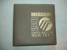 EC 1991 Mercury CAR COLOR UPHOLSTERY Album Manual Product Source Book XR7 Capri