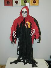 Halloween Light Up Hanging Reaper Decoration Prop 4 FT NWT!