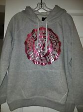 American Eagle NWOT Women's Gray w/Pink Graphic Hoodie Size Large