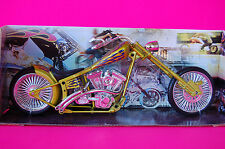CUSTOM CHOPPER  1/12th MODEL MOTORCYCLE  YELLOW