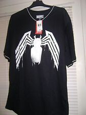 Marvel Mens Venom Baseball Jersey Style Shirt XL NWT