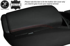RED STITCH ARMREST LID LEATHER COVER FITS NISSAN QASHQAI J11 2013-2016