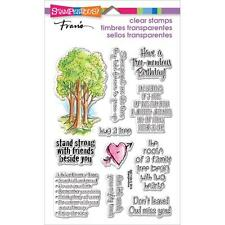 New stampendous RUBBER STAMP clear Acrylic FOREST SAYINGS SET FREE US SHIP