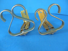 SET OF 2 METAL BRACKETS FOR DRAPES OR CURTAINS