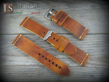 22 mm Genuine Italian Leather CUOIO VINTAGE LARGE Watch Strap Band Burnt honey