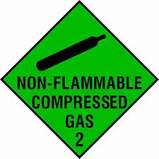 Non-Flammable Compressed Gas self adhesive business sticker health & safety