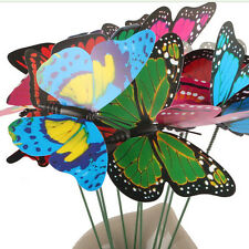 10pcs Cute Butterfly On Sticks DIY Craft Art Garden Lawn Vase Home Party Decor