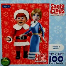 "Santa Claus is Comin to Town Santa & Jessica Puzzle 100 Piece 9""x12"" Sealed 2011"