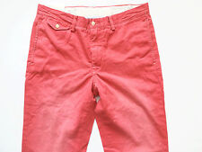 New Ralph Lauren Polo Faded Red 100% Cotton Chino Pants Slim GI Fit sz 36 x 30