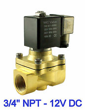 "3/4"" Inch Brass Electric Air Gas Water Solenoid Valve Normally Closed 12V DC"