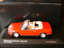 MASERATI BITURBO SPYDER 1986 RED MINICHAMPS 400123530 1/43 CABRIOLET ROUGE ROSSO