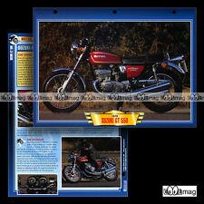 #067.02 Fiche Moto SUZUKI GT 550 (GT550) 1976 Motorcycle Card