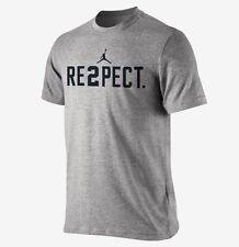 NWT Nike Jordan Men's RE2PECT Derek Jeter Yankees Gray Tee Shirt Size Medium