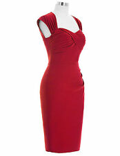 Belle Poque Vintage Chic Sexy Lady Nylon-Cotton Bodycon Pencil Cocktail Dress