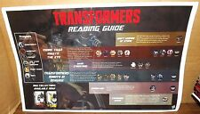 TMNT Transformers IDW Comics Reading Guide Poster NYCC Promo Exclusive 11 x 17