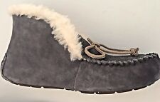 NIB UGG WOMEN'S ALENA SZ 9~NIGHTFALL GRAY SLIPPER SHOES~SHEEPSKIN INSOLE~1004806