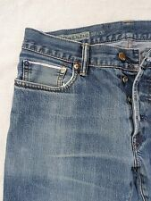 GAP 1969 selvedge selvage denim distressed hige whisker straight leg jeans 32x29