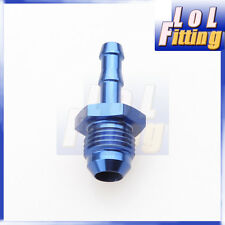 AN -6 AN6 6AN Male to 10mm Barb Straight Fitting Fuel Push On Hose Adapter Blue