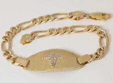 10K Solid Gold Medical ID Bracelet with Custom Engraving Medic Alert