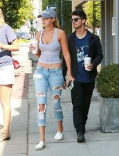Bardot Jeans - KIMYE Ripped Jeans - Size 6 - as seen on Gigi Hadid - Blue Jeans