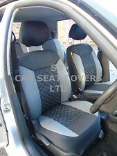 i - TO FIT A NISSAN NAVARA CAR, SEAT COVERS, GREY/BLACK DIAMOND, FULL SET