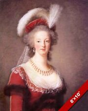 MARIE ANTOINETTE QUEEN OF FRANCE PORTRAIT PAINTING ART REAL CANVAS PRINT