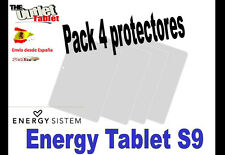 "**Pack 4 Protectores de pantalla para TABLET ENERGY SYSTEM S9 9"" UNIVERSAL"