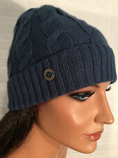 NWT LORO PIANA Blue Berretto Trecce BABY CASHMERE Cable Knit Hat