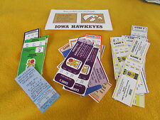 Vintage Iowa Hawkeyes Basketball Ticket Stub Collection Lot Of 32 1980's -2000's