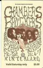 CHAMBERS BROTHERS Mother Earth Country Weather Unused Fillmore Ticket BG 1968