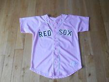 Majestic JASON VARITEK Pink BOSTON RED SOX Womans MLB Team Replica JERSEY L