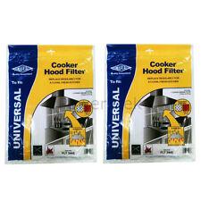 2 x De Dietrich Universal Cooker Hood Extractor Grease Filter 114 x 47cm UK