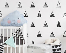 MOUNTAIN Vinyl Wall Decals Nursery Triangle Tribal Geometric Bedroom Decor