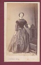 300416 - CDV photo ancienne BOUREAU BORDEAUX - femme robe Marie de G D