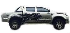 BLACK COLOR STICKER COVER CAR DECAL 4 DOORS TOYOTA HILUX VIGO SR5 MK6