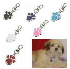FD2840 Pet Cat Dog Paw Foot ID Name Collar Personalized Tag Not Engraved 1pc ♫