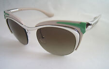 PRADA SUNGLASSES CAT EYE SILVER PARALLEL UNIVERSES SPR 61O 1BC 1X1 BNWT GENUINE