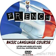 LEARN TO SPEAK FRENCH PC DVD  LANGUAGE COURSE EASY BEGINNER PROGRAM MP3+TEXT NEW